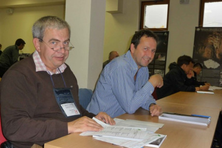 Austrian smiles: Franz Eder and Fritz Oedl