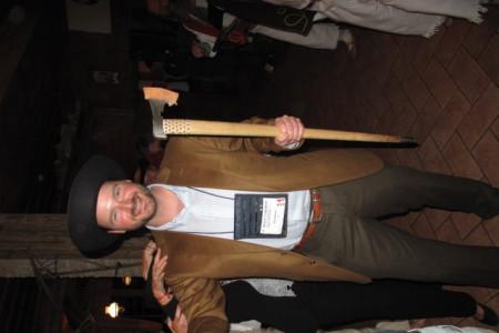 American cowboy with valaska