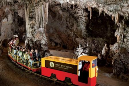 Train in Postojna Cave